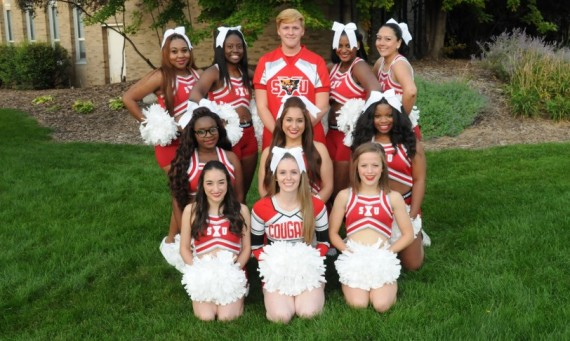 The 2014-15 SXU Cheerleading squad will host two clinics at SXU in February