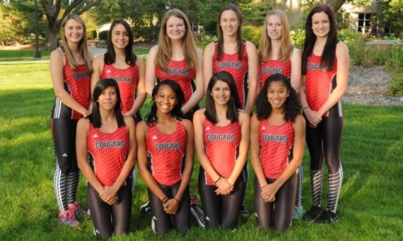 The SXU women's cross country team finished fifth out of 12 teams at the CCAC Championships