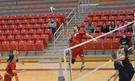 Senior Sam Kull finished with eight kills and three total blocks in Tuesday's win over Calumet