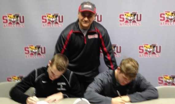 Brandon Bolek (left) and Nick Borgra (right) recently signed letters of intent to play for SXU next season