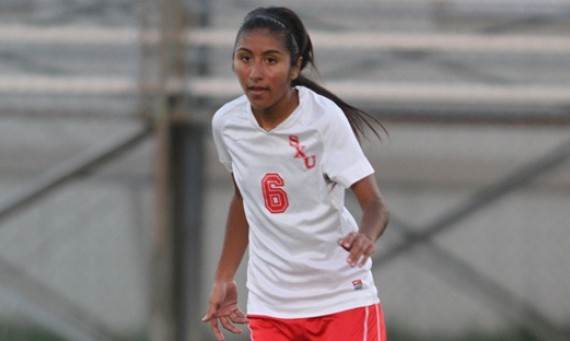 Senior Monica Chavolla had a goal and an assist for SXU Saturday