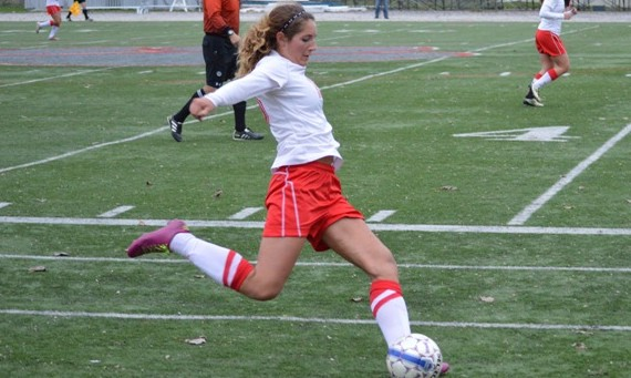 Senior Lexi Cozzi scored for Saint Xavier in the 89th minute of play Saturday against Ashford