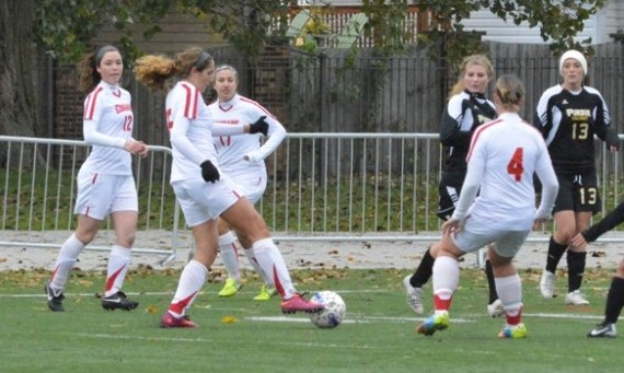 Junior Lexi Cozzi scored both goals for SXU in a 2-0 conference win over Purdue-Calumet