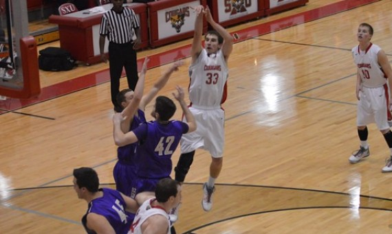 Senior Jack Krieger scored 18 points to lead SXU in its season-ending loss to Olivet Friday