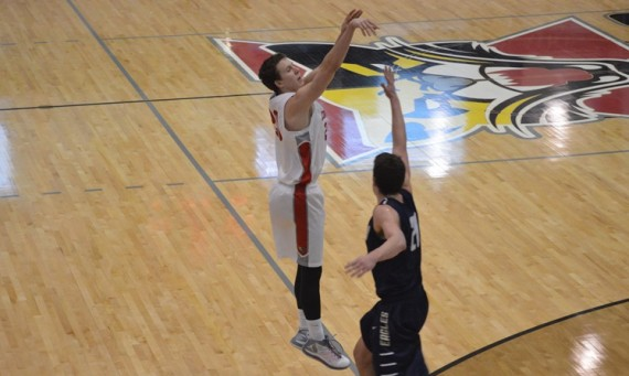 Freshman Larry Motuzis had the hot hand for SXU Saturday with 23 points against Judson