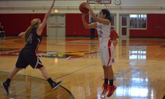 Freshman Kara Krolicki led all scorers with 15 points in SXU's 72-58 loss to No. 6 Stritch Saturday