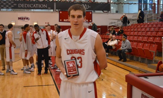 Senior Jack Krieger set a new career-high scoring mark of 36 points and was named to the all-tournament team