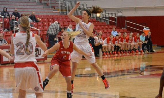 Senior guard Suzie Broski scored 17 points to help No. 4 SXU win its fourth straight game