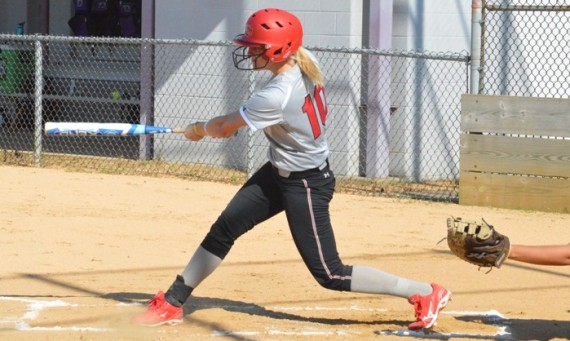 Junior Rebeka Ferguson had three doubles over two games for SXU in Saturday's two wins in Florida