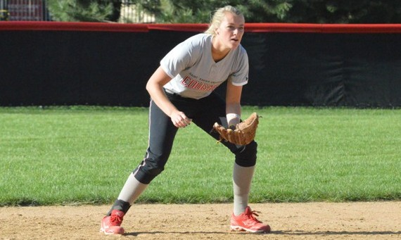 Junior Rebeka Ferguson had seven hits, including five doubles, in SXU's sweep of Roosevelt Thursday night