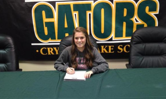Crystal Lake South's Alyssa Gaede has signed a letter of intent to join the SXU women's soccer team this fall