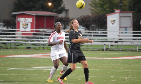 Senior Morgan Graves had SXU's first goal of the night in Friday's home opener