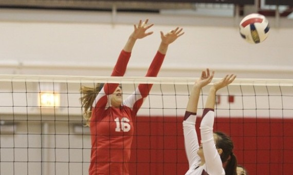 Junior Heidi Gregerson posted 18 total kills and seven total blocks in two matches Saturday for SXU