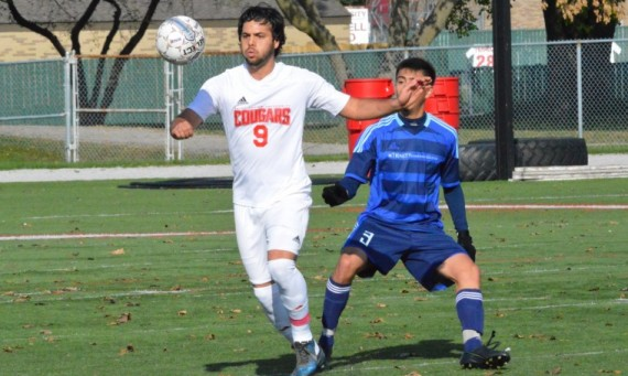 Junior Marco Gutierrez finished Saturday's game with two goals and an assist to aid the 6-0 victory over TCC