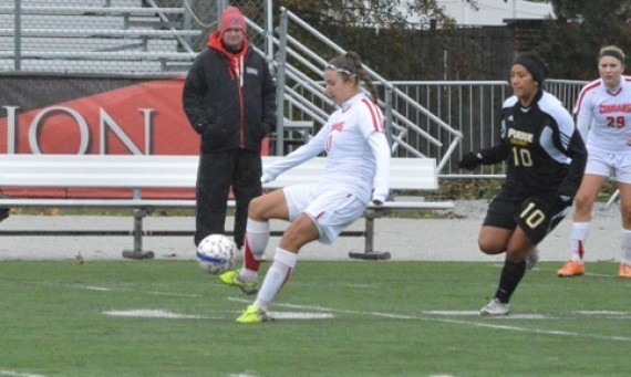 Senior Danielle Inzinga led SXU Wednesday with two goals against Calumet College