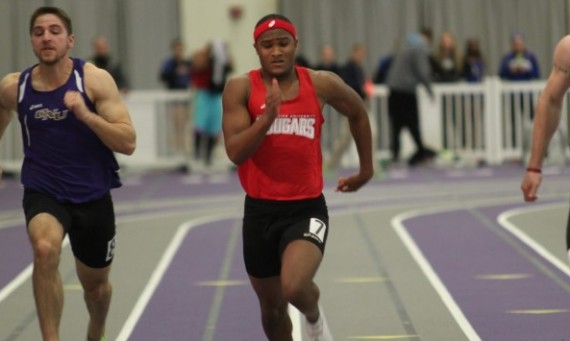 Freshman Kyonn Keith set a new school record in the 60 meter dash with a time of 7.08