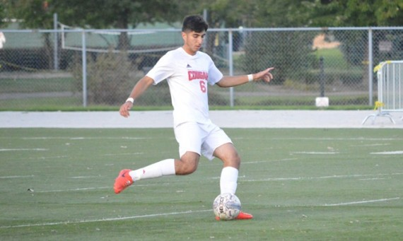 Senior defender Rene Leon had two shots on goal against Holy Cross Saturday