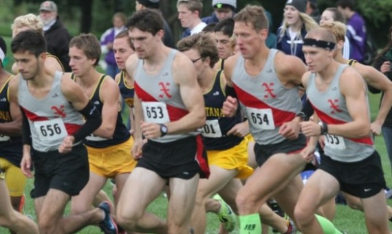 The SXU men's cross country team finished sixth at the 2014 CCAC XC Championships Saturday