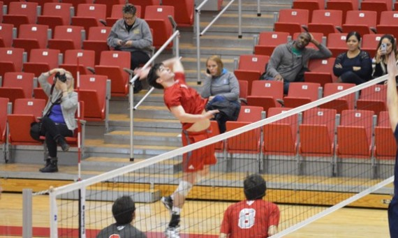 Sophomore outside hitter Dan O'Keefe led the Cougars with nine kills in Tuesday night's victory