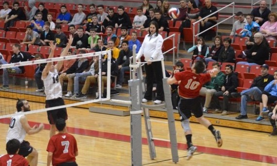 Sophomore Sean Barry had eight kills and three aces to lead SXU Friday in its loss to Stritch