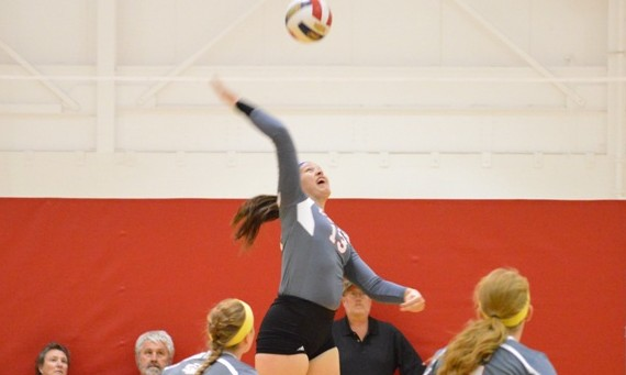 Freshman Anna O'Hara led Saint Xavier with 22 total kills over the two Friday matches at Davenport