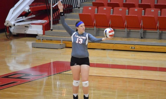 Freshman Anna O'Hara tied her career-high kills total with 15 Thursday night against SAU