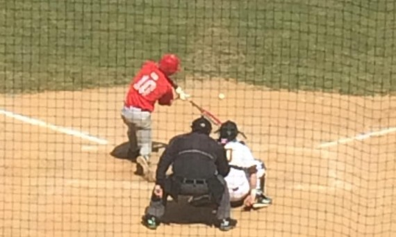 Sophomore Ryan Pellack hit a solo homer to right field for SXU in game one Tuesday at Silver Cross Field in Joliet, Ill.