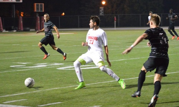 Junior Erik Ramirez scored the game-winning goal in double OT for SXU's 2-1 win over Roosevelt
