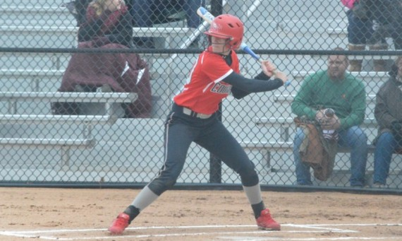 Junior Rebeka Ferguson had a combined six hits with four runs scored and three RBI Tuesday