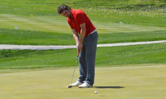 Junior Zach Trent leads Saint Xavier after the first round of play with a score of 78 at Flossmoor Country Club Wednesday