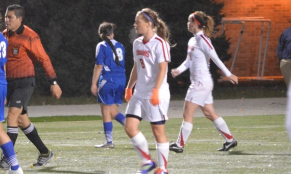 Sophomore Julia Gawlak scored her first career goal in the 88th minute of Friday's game