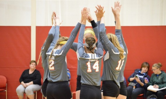 The SXU volleyball team won its first round match with Judson and now advances to the CCAC semifinals Thursday
