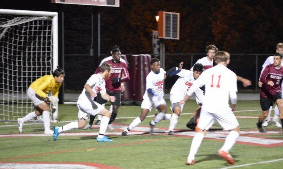 The SXU men's soccer team lost a 1-0 home game to Holy Cross Saturday on a late penalty kick goal
