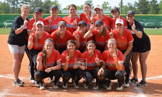 The No. 5 SXU softball team won the Georgia Gwinnett bracket of the NAIA Opening Round Wednesday with a 3-1 victory