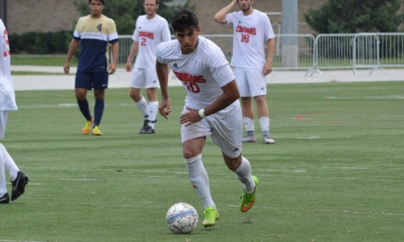 Sophomore Ricardo Aldape scored SXU's lone goal in a 1-0 victory over Cornerstone in the home opener Saturday