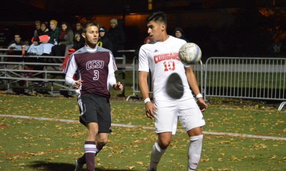 Sophomore Ricardo Aldape scored two late goals in SXU's 3-0 home win over Calumet Saturday night