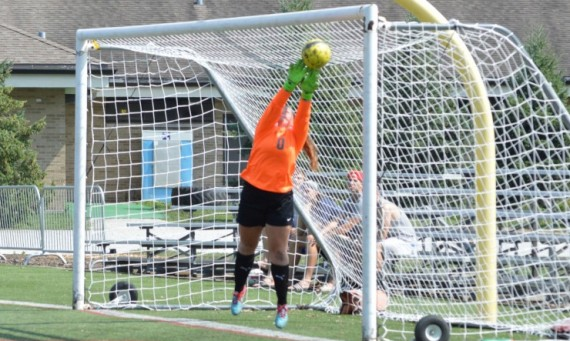 Freshman Carly Bledsoe had five saves for SXU in her first collegiate start