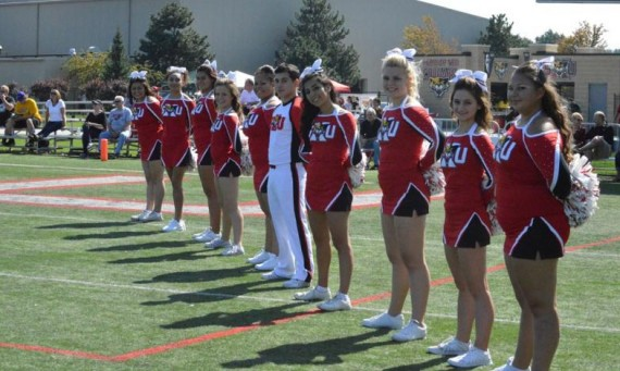 The SXU cheerleading and Paw Prints dance team is postponing its youth clinic until basketball season