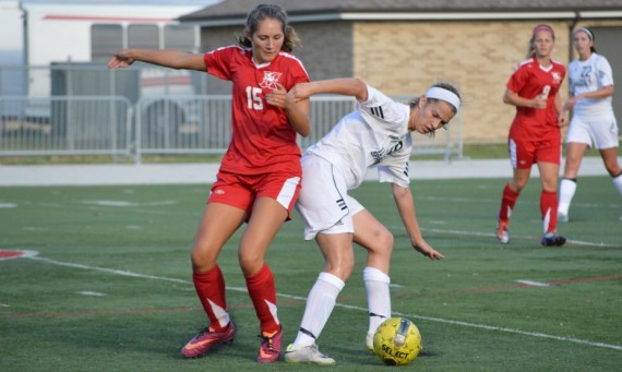 Senior Lexi Cozzi scored the game-tying goal in the 33rd minute to help lead SXU to a 2-1 win over UIS