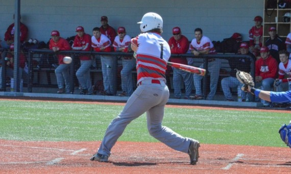 Sophomore Drey Devereaux had two of SXU's six hits on the day in a tough 6-0 loss to No. 12 York Wednesday