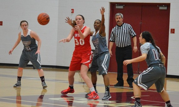 Sophomore Brittany Collins scored 10 points off the bench in SXU's 95-48 win over Governors State Saturday