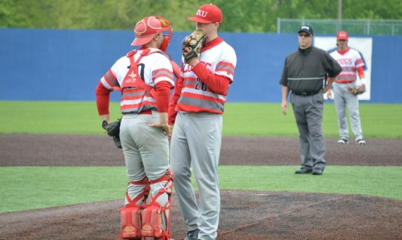 Junior Ryan Pellack (left) and freshman Brett Smith (right) both had big influences in SXU's 5-3 win over Robert Morris Wedne