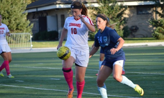 Freshman Jillian Doan had a goal and an assist for SXU Wednesday in a 3-2 loss to Saint Ambrose