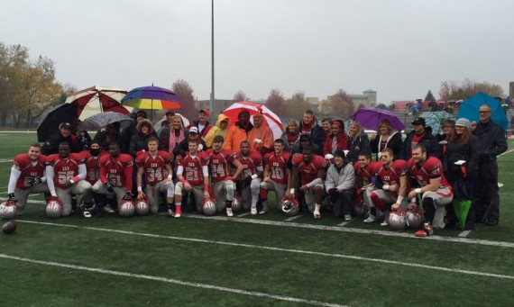The SXU football team celebrated Senior Day Saturday with a pre-game ceremony on the field with the parents