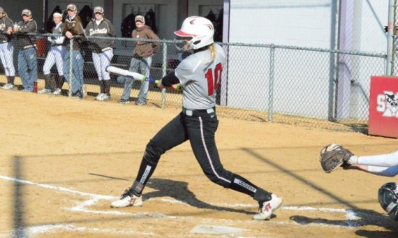 Senior Rebeka Ferguson had a big day at the plate with six hits, including two homers, in a sweep of Judson Tuesday