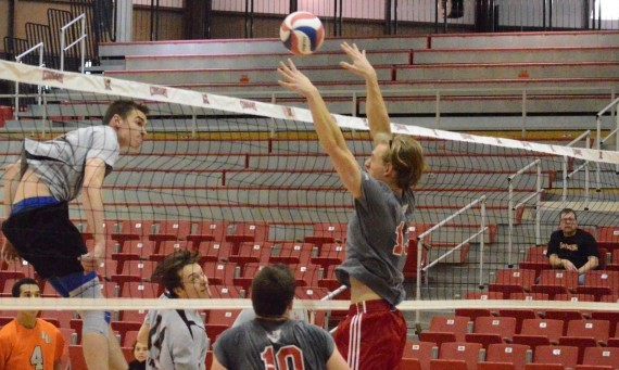 Sophomore Bradley Gadek had two solo blocks and four block assists in Tuesday's road loss to No. 9 Robert Morris