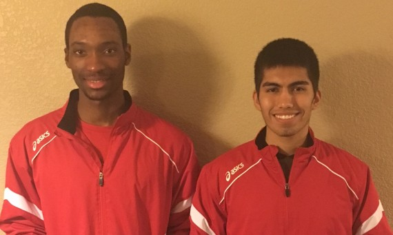 Senior Rexford Wiafe (left) and junior Abel Hernandez (right) both earned NAIA All-American honors in their respective events