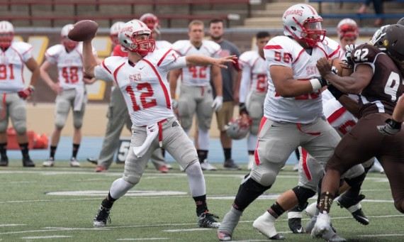 Junior QB John Rhode went 33-for-55 for 416 passing yards and four touchdowns Saturday in a 34-28 win over St. Francis (Ill.)