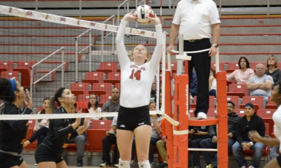 Red-shirt freshman Courtney Joyce led Saint Xavier with 30 assists and 12 digs in a win over Governors State Thursday