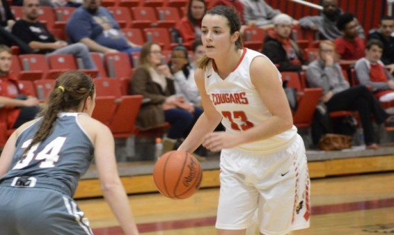 Junior Mikayla Leyden posted 16 points, nine rebounds and eight assists in a 74-40 home win over No. 14 Stritch Wednesday